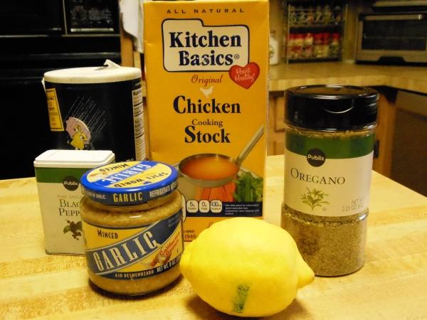 Oregano, Chicken, Lelmon, Garlic