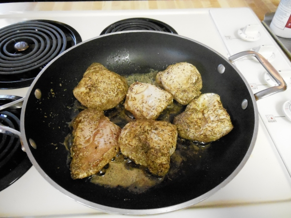 Cooking Chicken in Skillet before adding to crockpot